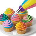 3 Color Cake Decorating Tools Icing Piping Cream Pastry Bag&Nozzle Converter