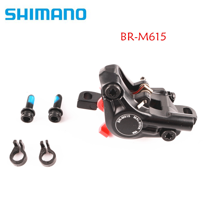 Shimano DEORE M615 Hydraulic Disc Brake Caliper With G03S / J03A / J04C Cooling Fin Ice Tech Brake Pads Mountain Bike Brake