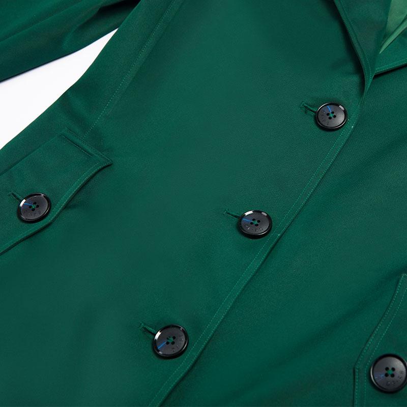 Poitrine Britannique Unique Col Grande Outwear Longues 6983 Style Manches Vert Automne Taille Long Baissez 2018 Manteau tIwqRpEz