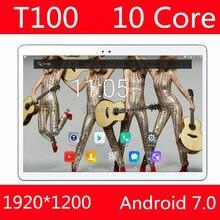 En Stock 100% Original T100 Tablet PC 4 GB RAM 128 GB ROM MediaTek MT6797 10 Pulgadas 6000 mAh Android 7.0 GPS 8.0 MP Cámara 4G Wifi