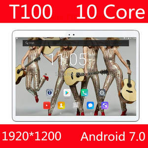 MP Camera Tablet Pc 10inch MT6797 Android-7.0 Wifi 128GB-ROM Mediatek 6000mah 4G T100