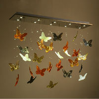Led 30W Art Deco Modern LED Crystal Luxury Butterfly Ceiling Lights Fixtures Glass Lustres LED Lamp