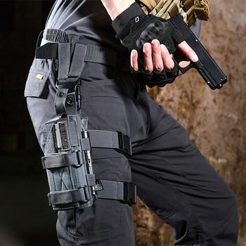 OneTigris Tactical Molle Drop Leg Platform & Handgun Pistol Holster Airsoft Paintball Right Handed Holster 1