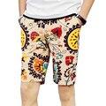 Shorts da praia dos homens de personalidade impressão 2016 verão seção fina respirável conforto casual shorts tamanho grande shorts soltos dos homens