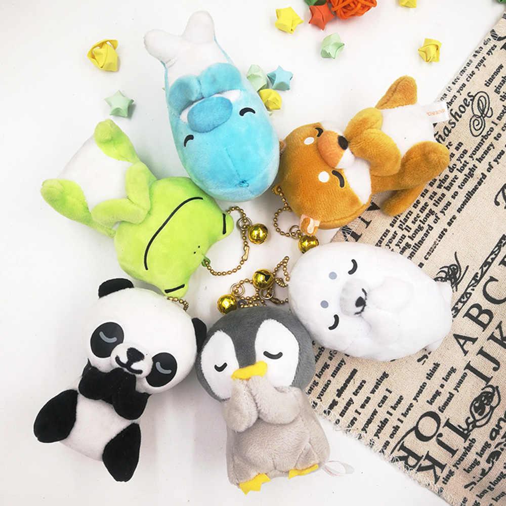 6 stili di 8 CENTIMETRI Animali Del Fumetto Del Pinguino Catena Chiave Bambole Per Bambini Farcito Giocattoli di Peluche Del Pendente Per Il Regalo Dei Bambini