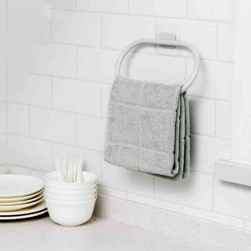 Towel Holder Rack Bathroom Self Adhesive Door Wall Hanging Organizer Storage Rack Holder Towel Hanger MYDING