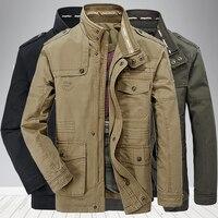 Новейшая мужская куртка высокого качества из 100% хлопка, ветровка, военные куртки, армейская одежда, верхняя одежда, летная куртка, Плюс Разм...