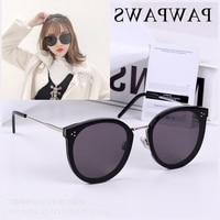 2019 Korean BRAND DESIGN Acetate Cat Eye Sunglasses Women Men Sun Glasses with Colored Lens Summer UV400 Oculos Gafas De Sol
