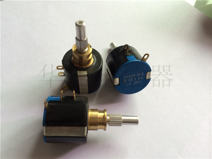 Original new 100% 3540S-502 R5K 10 circle multi turn potentiometer printer potentiometer (SWITCH) 9 single joint b20k potentiometer with double switch [ switch to turn the press ]