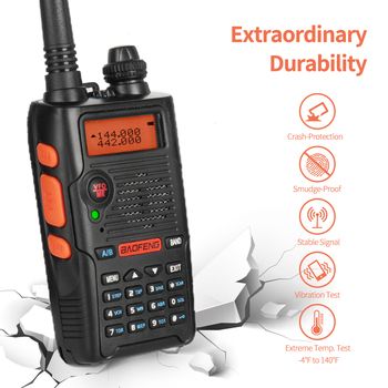 2 PCS Baofeng UV-5R EX 5W Dual Band Two Way Radio Walkie Talkie Rechargeable Long Range Ham Radio with Earpiece Desktop Charger 1