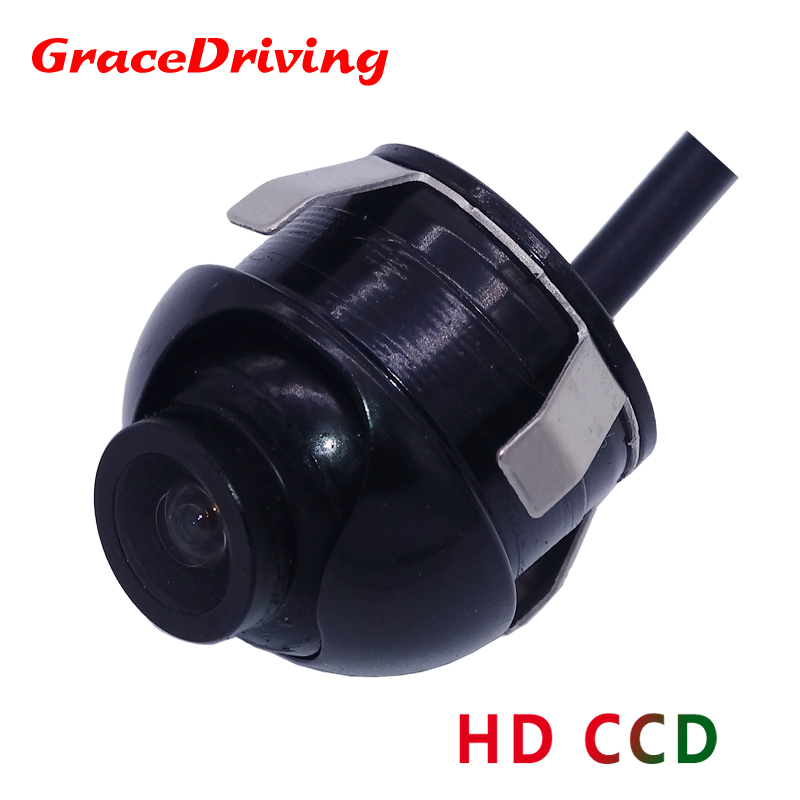 Free Shipping Mini CCD HD Night Vision 360 Degree Car Rear View Camera Front Camera Front View Side Reversing Backup Camera