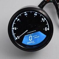 8 18V Multi Function LCD Backlight Digital Motorcycle Odometer Tachometer Speedometer Gauge Motorbike 12000RPM Support Alarm