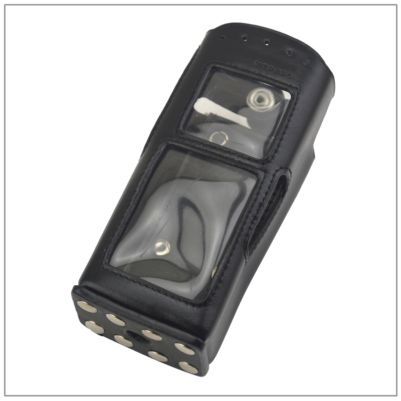 MTP850 Leather Carry Case with belt clip Strap for Motorola Tetra MTH600 MTH650 MTH800 MTH850 MTP850