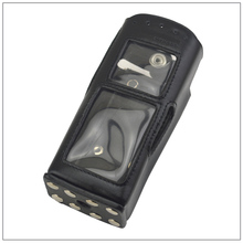 MTP850 Leather Carry Case with belt clip & Strap for Motorola Tetra MTH600 MTH650 MTH800 MTH850 MTP850 2-way Radio walkie talkie