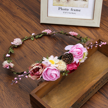 New Fashion Headbands Flower Wreath Crown For Girls Hair Accessories 1