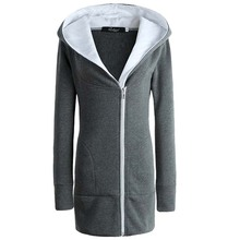 3XL Plus Size Winter Warm Zipper Women Hoodies Sweatshirts Fashion Casual Long Sleeve Slim Hooded Coats Jackets Outwear DR2021