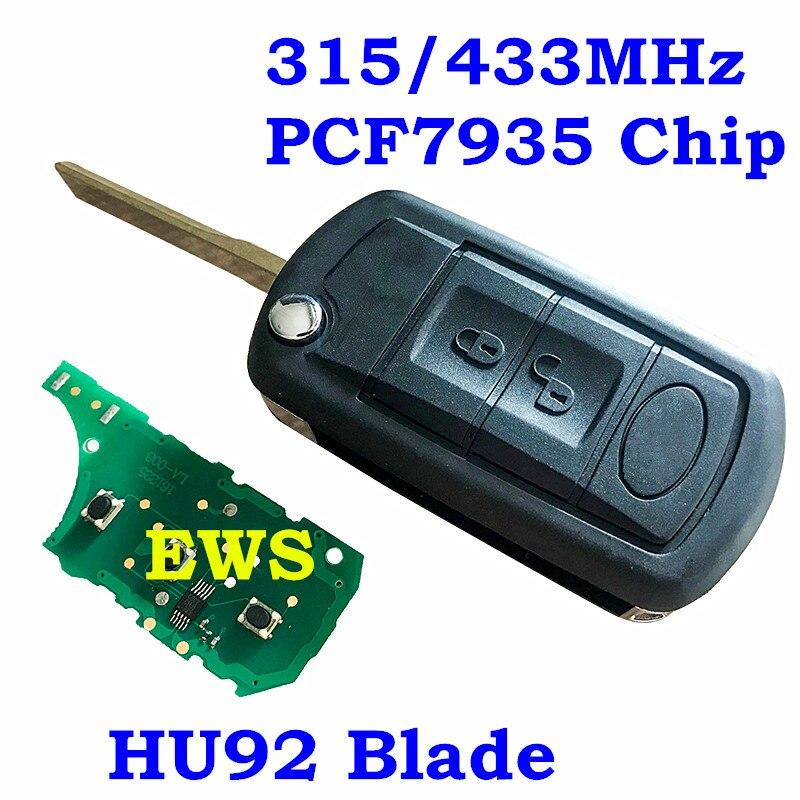 FleißIg Flip Folding Remote-car Key Für Land Rover Vogue Für Range Rover 315 Mhz 433 Mhz Pcf7935 Chip Hu92 Klinge Ews4 Id44 Chip Ein Bereicherung Und Ein NäHrstoff FüR Die Leber Und Die Niere