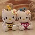 7inch 2013 new bee Hello Kitty doll plush toy doll birthday gift new year gift juguetes de los cabritos  regalo