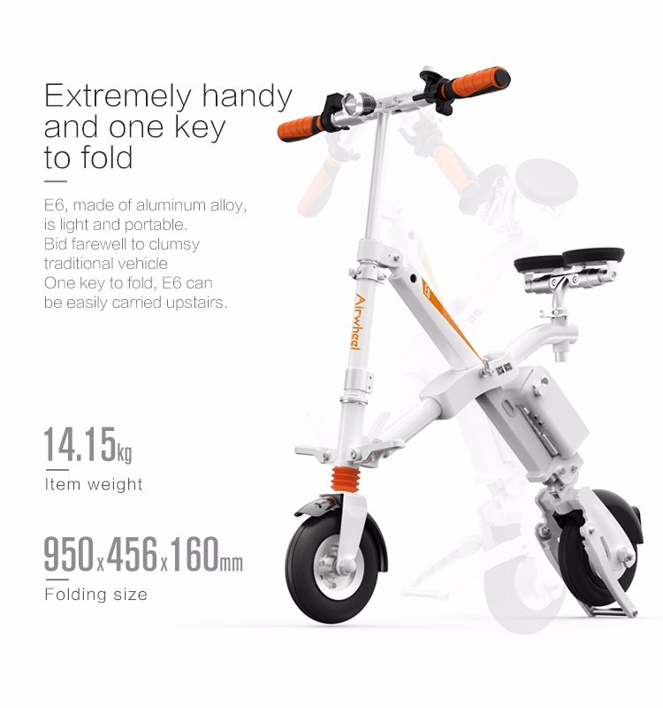 check out f9bbc edead original Airwheel E6 electric bicycle folding bike with led light ...