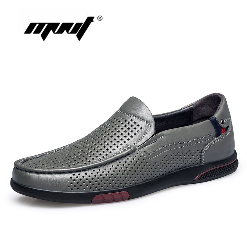 Plus Size Men Loafers Moccasins Natural Leather Quality Casual Shoes Men Comfortable Classic Men Flats Breathable Men Shoes in Men 39 s Casual Shoes from Shoes