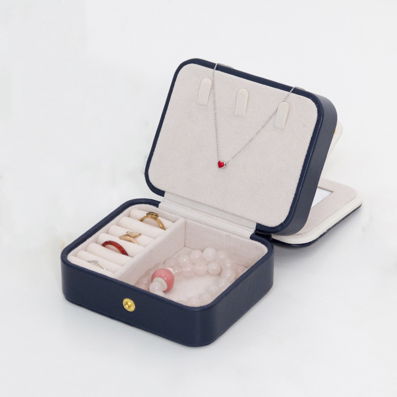 HIPSTEEN Jewel Case Multilayer Portable Travel Hiking Jewel Case PU Leather Large Capacity Jewellery Box