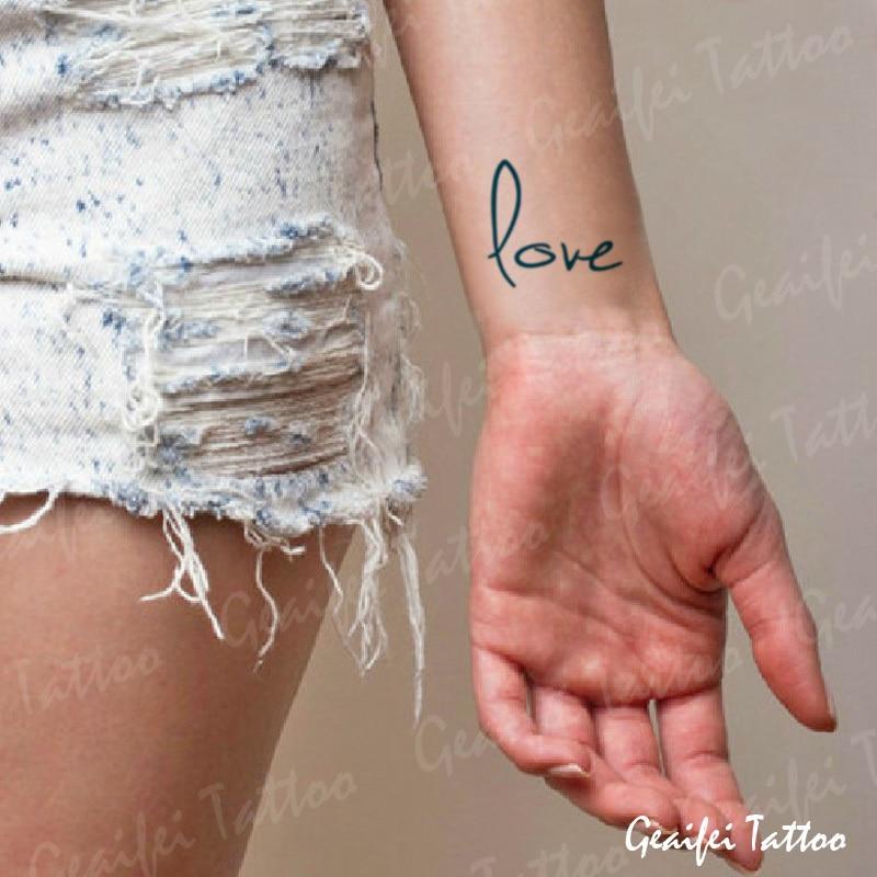 Love Alphabet Tattoos For Men On Hand