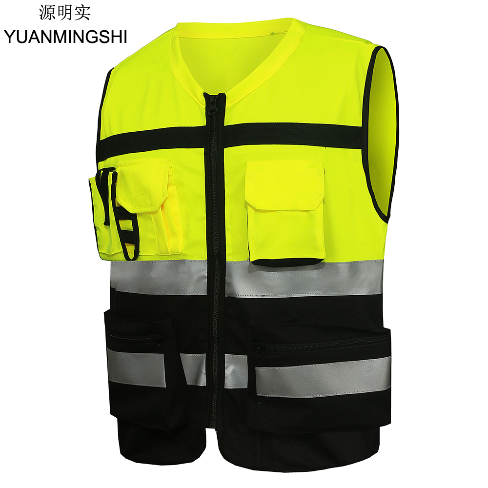 yuanmingshi motorcycle work clothes reflective safety clothing vest chaleco reflectante safety. Black Bedroom Furniture Sets. Home Design Ideas