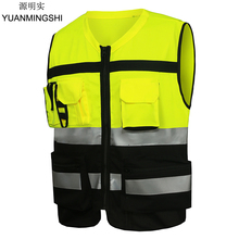 Motorcycle Work Clothes Reflective Safety Clothing Vest Chaleco Reflectante Safety Vest Reflective Vest Gilet Jaune Securite reflective safety warning pvc strip garment accessories safety vest clothing reflective crystal lattice pvc tapes