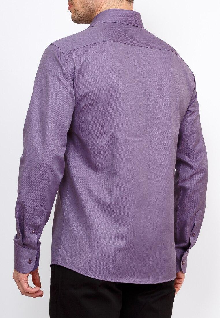 Shirt men's long sleeve GREG 713/319/312/Z Lilac plus size bird and floral print v neck long sleeve t shirt