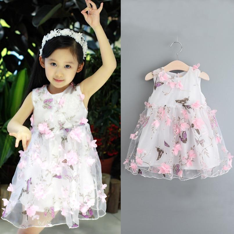 Baby Girls Clothes Kids Fashion Three Dimensional Flower Fairy