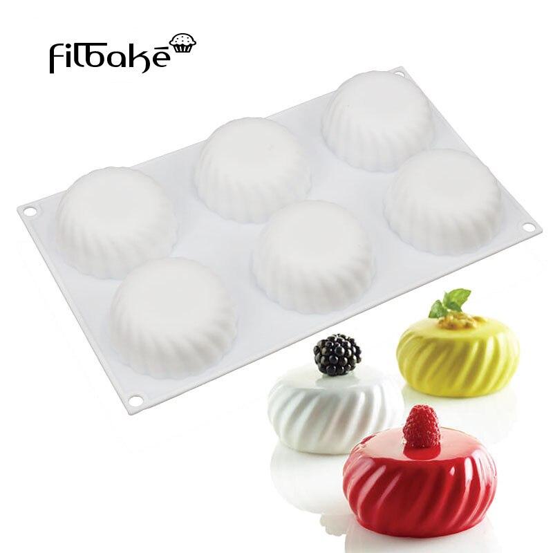 FILBAKE 6 Hohlraum Silikon Form Sinuous Kombination Von Harmonische Linien Förmigen Backen Schokolade Dessert Kuchen Dekorieren Werkzeuge