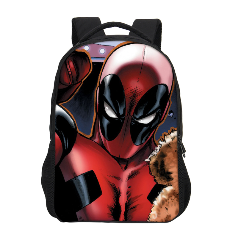 VEEVANV Fashion Dead pool print Bagpack Purse Children School College Bookbag travel Backpack Men Kids boy Gift Mochilas 2018