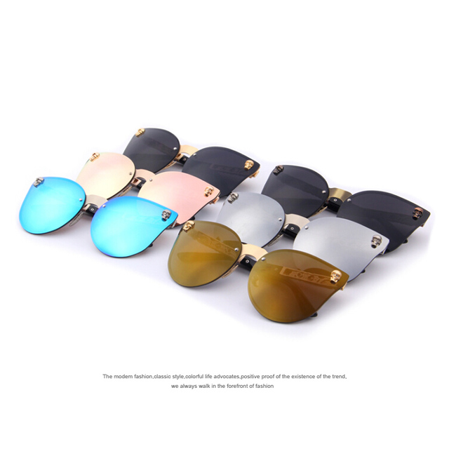 Women Gothic Sunglasses Men Skull Frame Metal Merry's Sunglasses