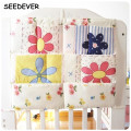Baby Crib Bedding Set 60*50cm Organizer bag Toddler Bed Hanging Pockets Fabrics Kids Diaper toys Storage Bag Baby Bed  BG02