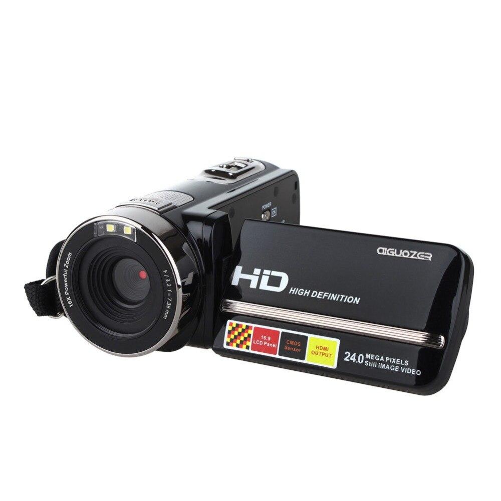 все цены на HDV-301STR Digital Video IR Camera Full HD 1080P 16x ZOOM Camcorder DV DVR Max.24MP With 3'' TFT LCD Screen онлайн