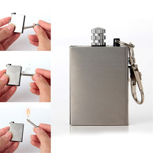 60Pcs/Pack Creative Stainless Portable Bottle Shaped Survival Tool Flint Fire Starter Matches Lighter Kit for Outdoor NO OIL