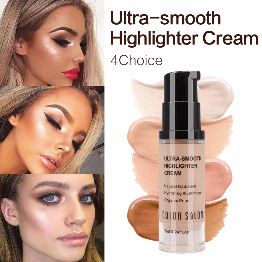 Color Salon Highlighter foundation for face care Natural Radiance Hydrating iiiminator Organic Pearl Primer makeup cosmetic