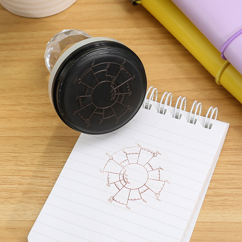 1pc Date Plan Seal Simple Creative Schedule Planner Stamp Scrapbooking Stamps Office Supplies DIY Stationery Bullet Journal