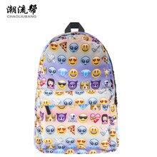 CHAOLIUBANG Frauen Rucksack 3D Emoji Druck Schule Rucksäcke für Teenager Mädchen Reise Daypack Oxford Rucksack Rucksack Tasche