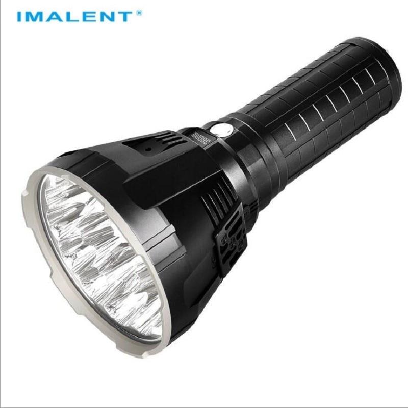 IMALENT R90TS Big Flashlight High Power LED CREE XHP70 36000 Lumens Long Throw Flash light 21700 Battery Intelligent Charging