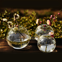 O.RoseLif Hand in Hand Circle transparent vase hydroponic glass flower fashion wedding decoration artificial flowers