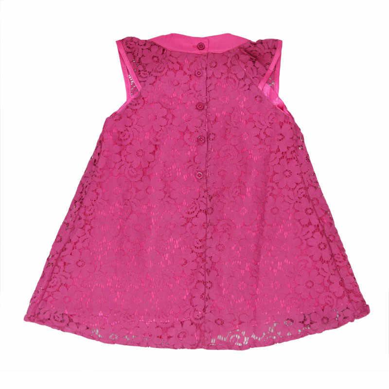 2019 Yaz Sevimli Bebek Kız Dantel Elbise çocuk Kolsuz Vestidos Toddler Prenses Giyim Çocuklar evaze elbise Elbise