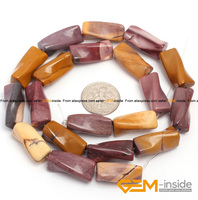 9x20mm Twist Column Mookaite Jasper Beads Natural Stone Beads Loose Beads For Jewelry Making Strand 15