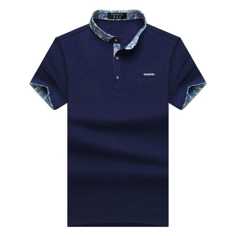 2019 New Brand New Floral Collar Men POLO Shirts Summer Style Short Sleeve Shirts Camisas Polo Plus Size 6XL 7XL 8XL 9XL 10XL
