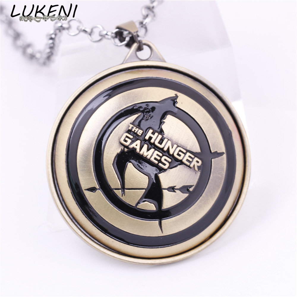 Lukeni Fashion Movie The Hunger Games Mockingjay Alloy Long Statement  Necklace &pendant Chain Gift Men Jewelry