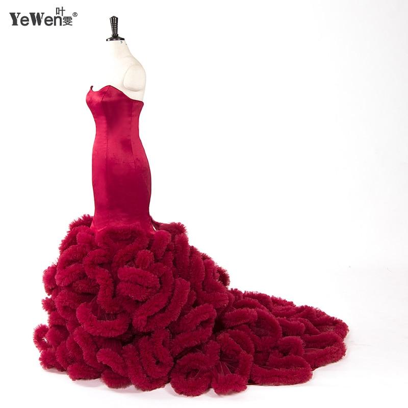 Royal Blue Wedding Gowns Pink Luxury Black Cloud Mermaid Wedding Dress Plus Size Burgundy Bridal Gowns Robe Mariage 2018