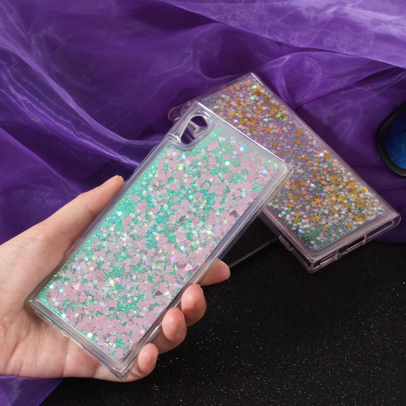 Beautiful Bling Glitter Case For Sony Xperia L1 Dynamic Liquid Quicksand Back Cover G3312 G3313 G3311 Soft Silicone Tpu Phone Cases Funda Buy One Get One Free Phone Bags & Cases