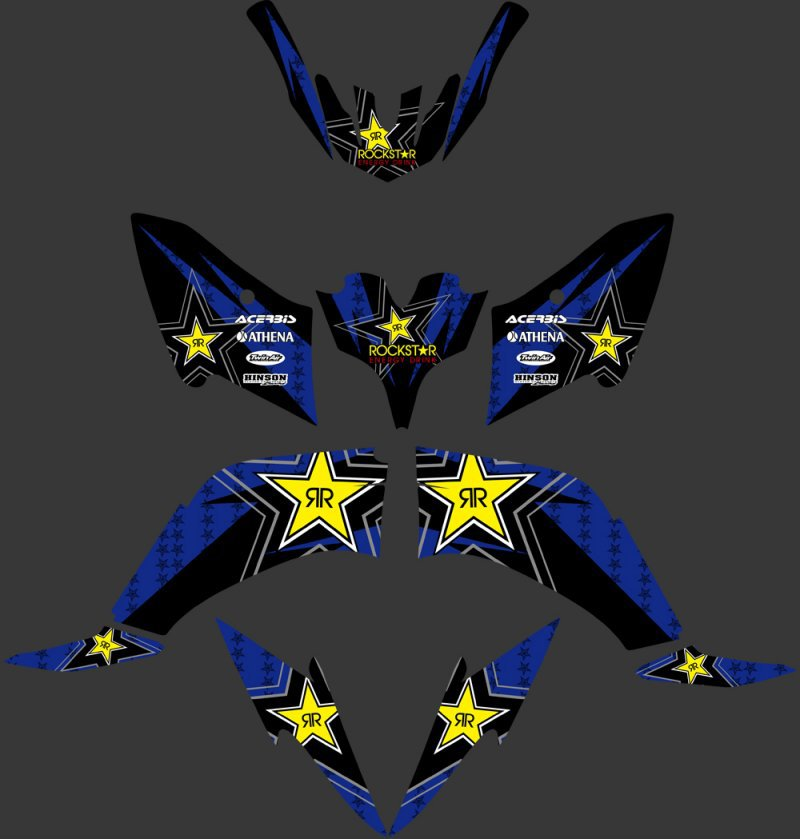 0334 Star New Style 3M DECALS STICKERS Graphics Kits FIT for Raptor125 Raptor250 Raptor ATV
