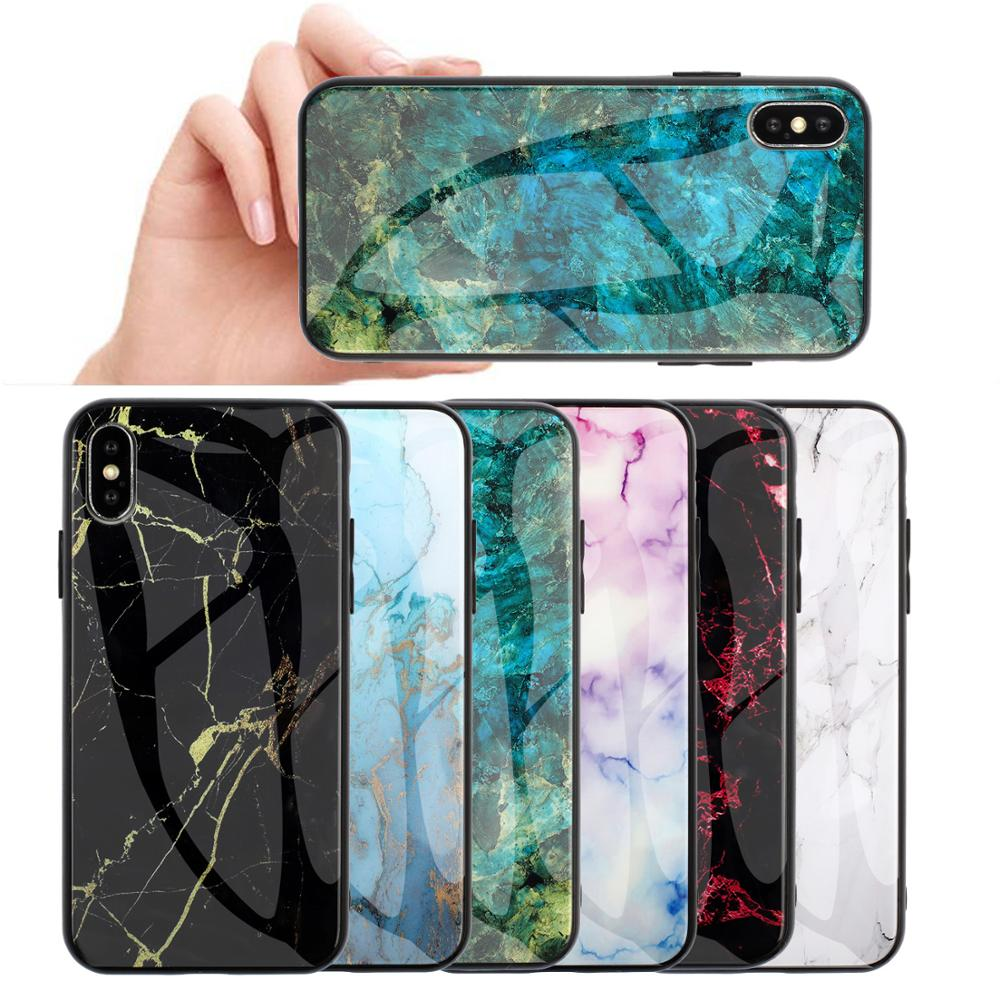 KISSCASE Marble Glass Case for Samsung j3 pro A50 A10 Funda Stained TPU Hard Case for Samsung Note 8/9/10 S8 J3 J5 J7 Pro Case image