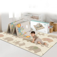 MrY Children's Foldable Non-slip Crawling Game Pad Baby Eco-friendly Home Odorless Moisture-proof Double-sided Mat good little baby crawling mat climb pad double sided pattern of increased moisture thicker section skid game blanket outdoor pad